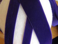5,25 m Samtband - 16 mm - purble