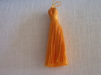 Quaste - Leinen - 6 cm - orange