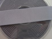 Ripsband - 25 mm - grey