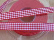 Vichy - Band - 15 mm - rot