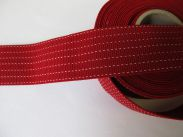 1,35 m Gummiband - 35 mm - rot weiss