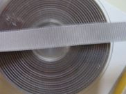 1,85 m Ripsband - 16 mm - grey
